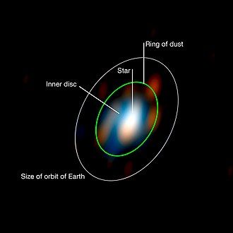 Astronomical interferometer - Image: Disc around the young star HD 163296