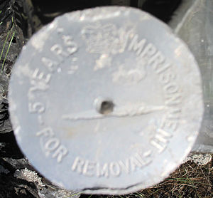 Four corners (Canada) - Image: Disk on top of Obelisk at 4 Corners Canada 2