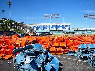 Dodger Stadium - Dodger Stadium seat removal, 2005 offseason.