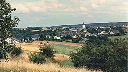 Ortsansicht Dörscheid, von der Schwedenschanze aus gesehen