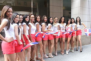 People of the Dominican Republic - Dominicans girls in the New York Dominican Parade