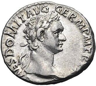 Domitian - A denarius of Domitian.