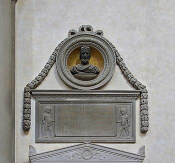 Français : Monument à la mémoire de Donatello,...