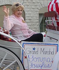 Donna Douglas as Grand Marshal of a parade in Tennessee.