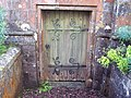 Door to crypt at St Peter's Church - geograph.org.uk - 466986.jpg