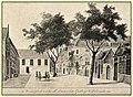 Dordrecht, Sacramentsgasthuis, binnenplaats 1776.jpg
