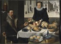 Double Portrait of an Elderly Couple (Lucas van Valckenborch & Georg Flegel) - Nationalmuseum - 23885.tif