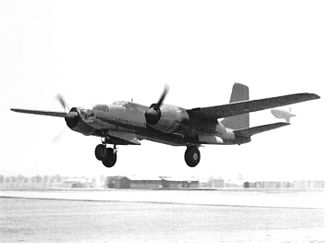 Douglas A-26 Invader - Douglas XA-26 AAC Ser. No. 41-19504 first flight, Mines Field, California, piloted by Benny Howard