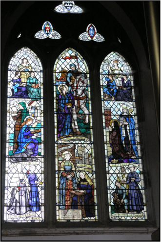 Frances Dove - Frances Dove Window in All Saints' High Wycombe. She presented the window to the parish church to pay tribute to the achievement of women through the ages.