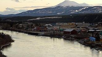 Downtown Whitehorse, Yukon - Skyline of Downtown Whitehorse from the east side of the Yukon River.