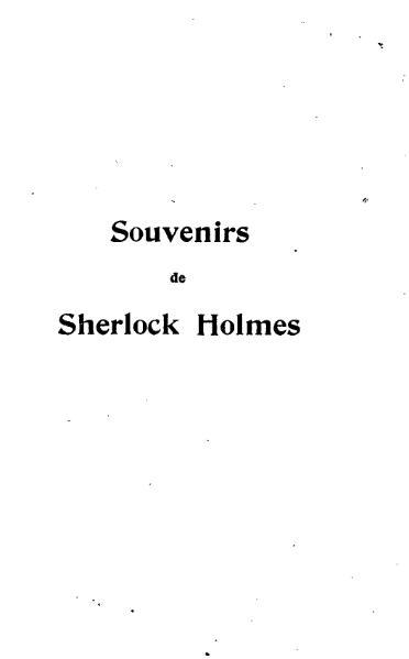 File:Doyle Souvenirs de Sherlock Holmes.djvu