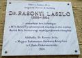 Dr. Rásonyi László emléktáblája, Budapest, XI., Zenta utca 5..png