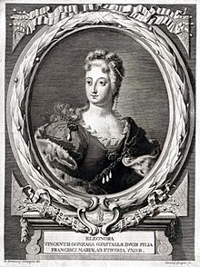 Drawing of Eleonora Luisa Gonzaga, daughter of Vincenzo Gonzaga, Duke of Guastalla and wife of Francesco Maria de' Medici.jpg