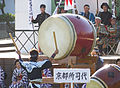 Drummer after 2006 Aizu parade.JPG
