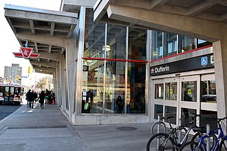 Dufferin station - Main entrance on the west side of Dufferin Street