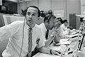 Duke, Lovell and Haise at the Apollo 11 Capcom, Johnson Space Center, Houston, Texas - 19690720.jpg