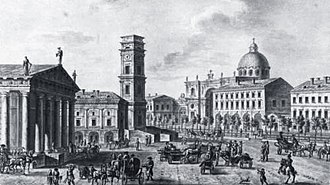 Saint Petersburg City Duma - Nevsky Prospekt near the City Duma in 1811.