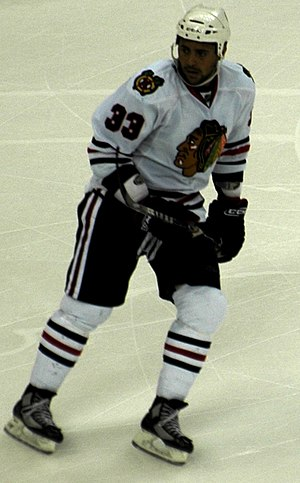 Dustin Byfuglien - Byfuglien while a member of the Chicago Blackhawks