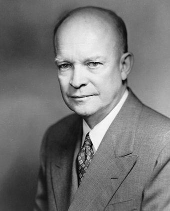 Dwight D. Eisenhower, the incumbent president in 1960, whose term expired on January 20, 1961 Dwight David Eisenhower, photo portrait by Bachrach, 1952.jpg