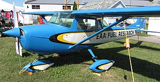 Avgas - An EAA Cessna 150 used for American STC certification of auto fuel