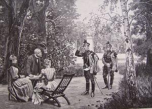 Quartermaster - Wojciech Kossak, quartering (Quartermaster), about 1893