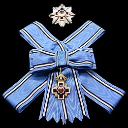 EST Order of the Estonian Red Cross 1st class insignias for ladies.jpg