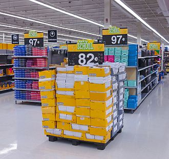 Dump months - Image: Early back to school display at Walmart, Kingston, NY