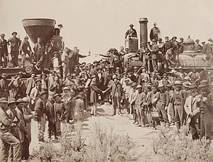 1869 in the United States - May 10: Golden spike