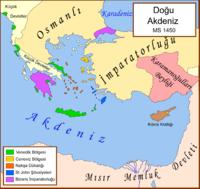 1450de Doğu Akdeniz