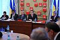 Ecaterina Andronescu, Andrei Dolineaschi, Liviu Dragnea si Victor Ponta la reuniunea BPN al PSD - 20.01.2014 (12049104575).jpg