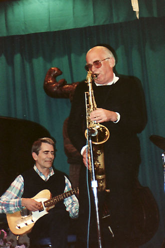 1932 in jazz - Ed Bickert and Fraser MacPherson, Otter Crest, Oregon. May 1989.