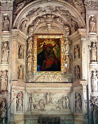 Virgin and Child with Four Angels - Image: Edicola marmorea della Vergine Bruna