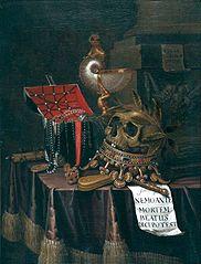 Vanité au crâne couronné