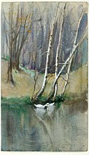 Edward Mitchell Bannister - Untitled (Wood Scene with Birch Trees and Ducks) - 1984.135.1 - Smithsonian American Art Museum.jpg