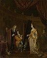 Een schilder in zijn atelier, een dame portretterend. Rijksmuseum SK-A-1465.jpeg