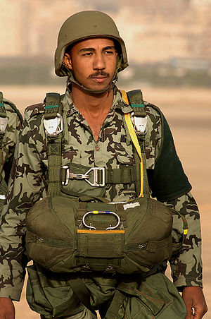 An Egyptian paratrooper.