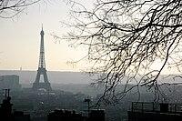 Eiffel Tower from Montmartre, Paris March 2011 002.jpg