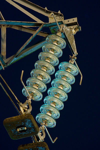 Détail d'un pylône électrique