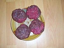 Photograph of elk meat patties