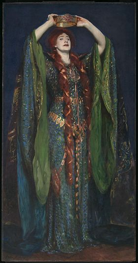 Ellen Terry interprétant Lady Macbeth. Tableau de John Singer Sargent (1889).
