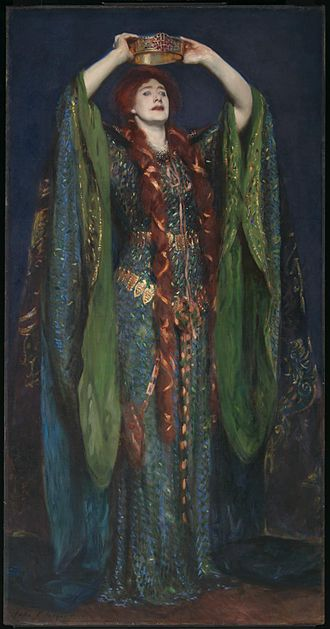 Lady Macbeth - Ellen Terry as Lady Macbeth by John Singer Sargent, 1889