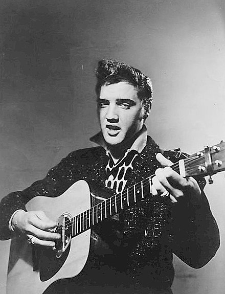 Publicity photo for the CBS program Stage Show, January 16, 1956 Elvis Presley first national television appearance 1956.jpg