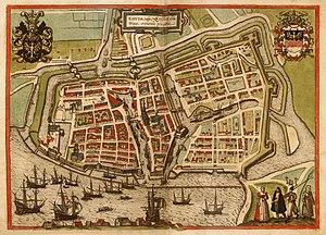 Emden Revolution -  Emden in 1575