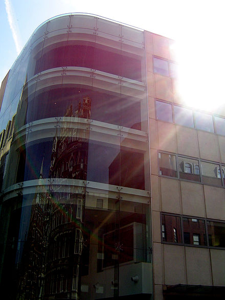 EMI's former building in London. The building is now owned by Warner Music UK. Emi building.jpg