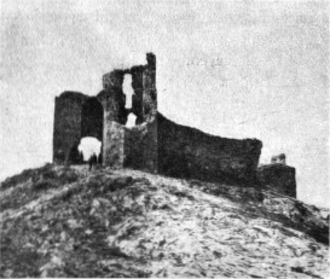 Sarichioi - Ruins of the Enisala fortress in the early 20th century