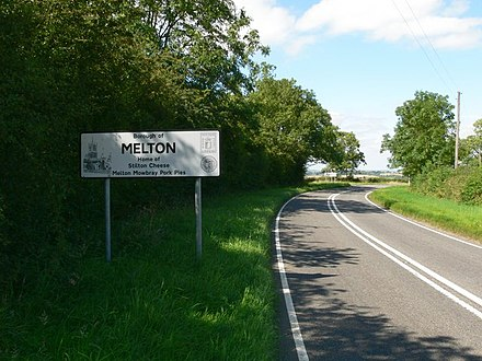 Entering the borough near Twyford on the B6047 Entering the Borough of Melton - geograph.org.uk - 519806.jpg