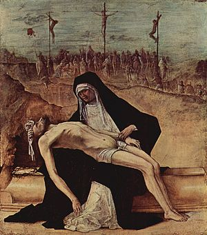 Ercole de' Roberti - Pietà (c. 1495). Walker Art Gallery, Liverpool, UK.
