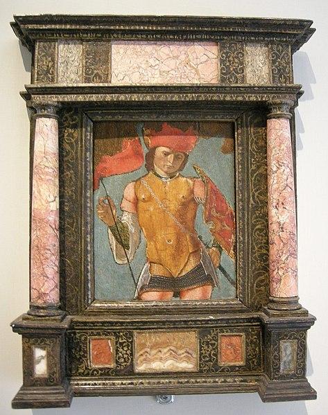 File:Ercole de' roberti (attr.), san michele arcangelo, 1480-85.JPG
