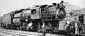 Camelback locomotive - The Erie Railroad's L-1 class were the largest camelbacks built, and the only articulated examples.