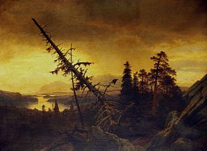 Düsseldorf school of painting - Tranquillity after the Storm, Erik Bodom, 1871